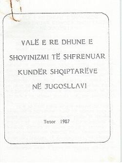 Valë e re dhune e shovinizmi të shfrenuar kundër Shqiptarëve në Jugosllavi